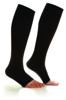 Knee Socks Supports 20-30 mmhg Compression Wear Open Toe Dr