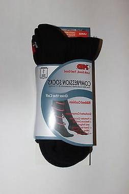 +MD PlusMD Ribbed Cushion Over the Calf Compression Socks Bl